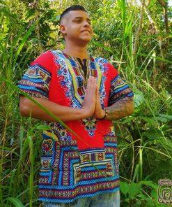 Camisa Africana Roja