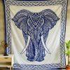 Elefantes hindues en mantas